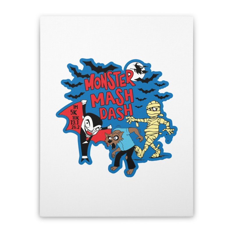Monster Mash Dash Home Stretched Canvas by Moon Joggers's Artist Shop