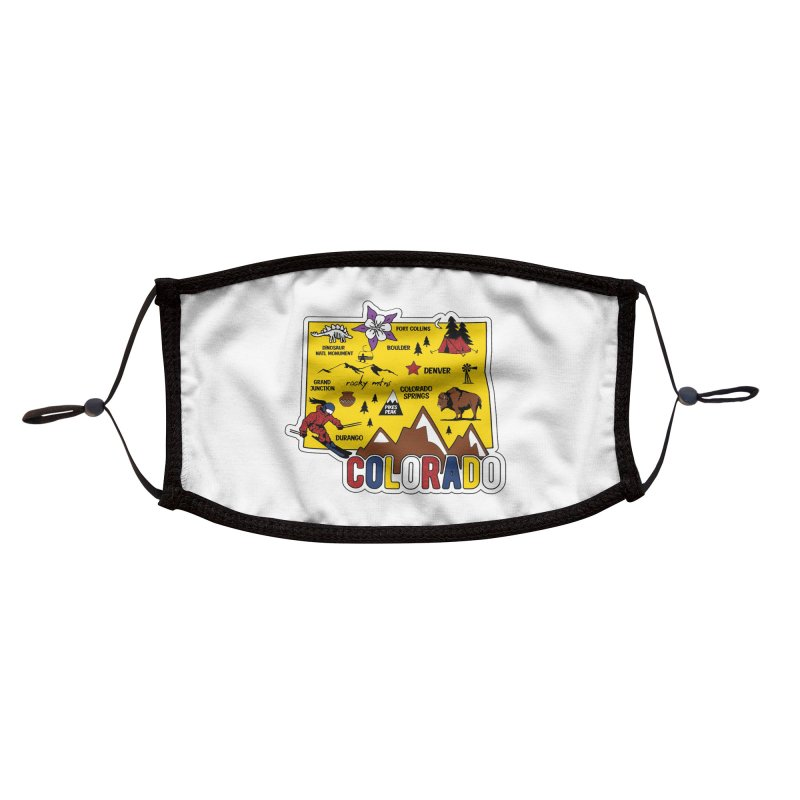 Race Through Colorado Accessories Face Mask by Moon Joggers's Artist Shop