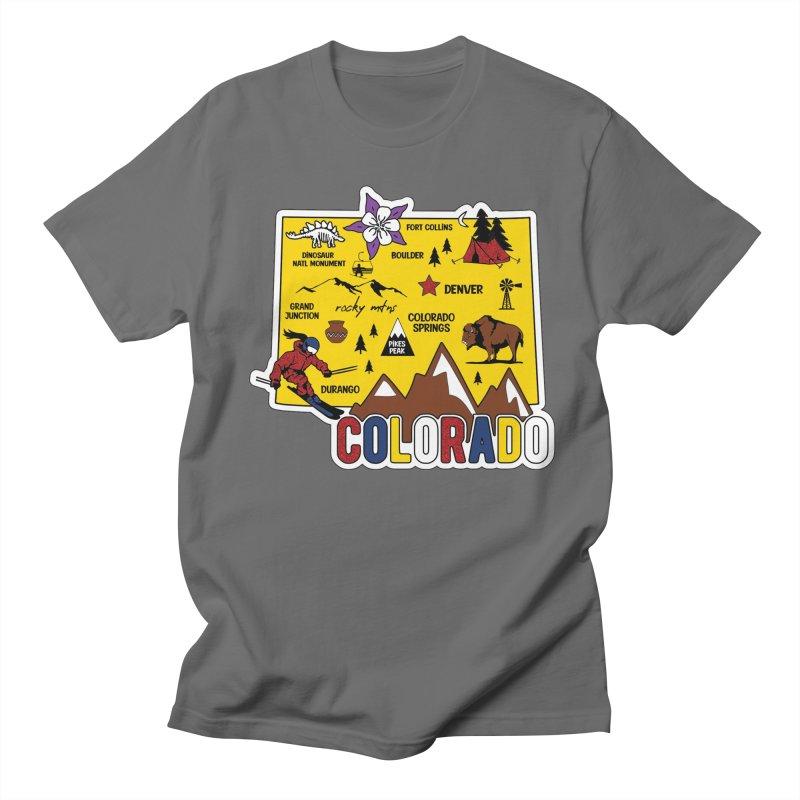 Race Through Colorado Men's T-Shirt by Moon Joggers's Artist Shop