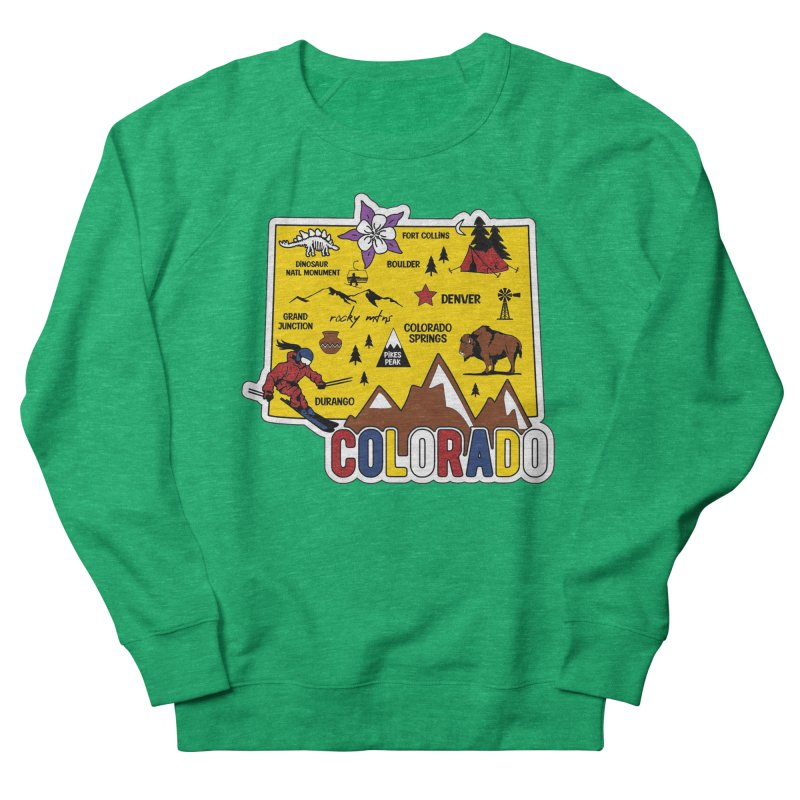 Race Through Colorado Women's Sweatshirt by Moon Joggers's Artist Shop