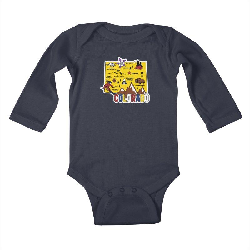 Race Through Colorado Kids Baby Longsleeve Bodysuit by Moon Joggers's Artist Shop