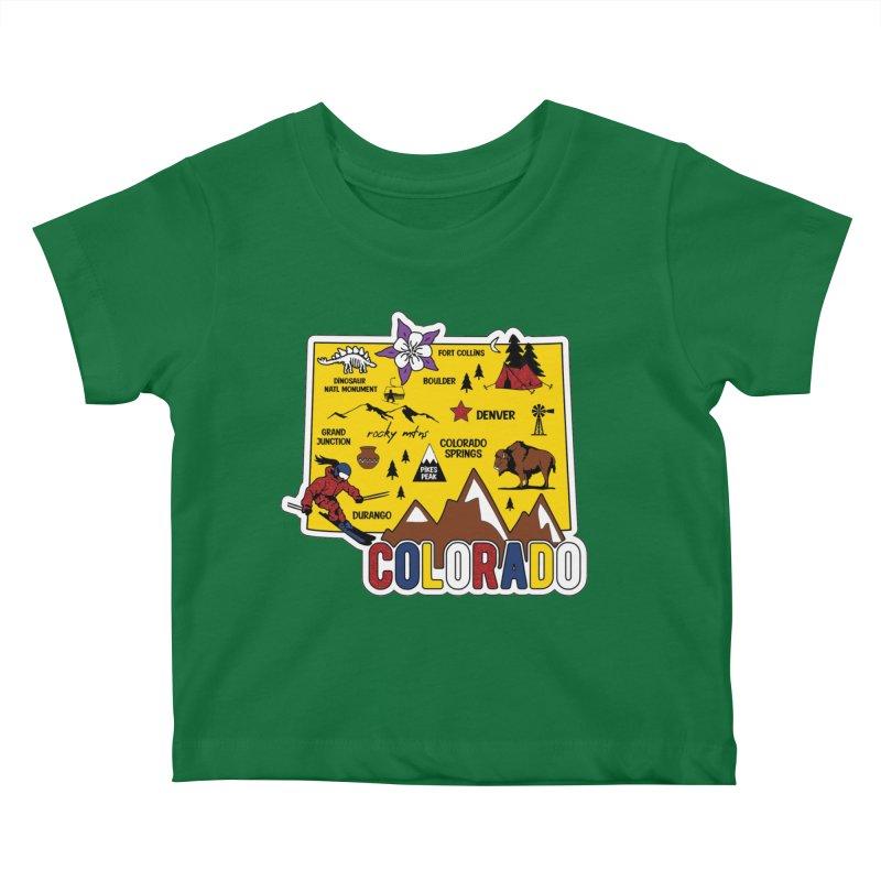 Race Through Colorado Kids Baby T-Shirt by Moon Joggers's Artist Shop