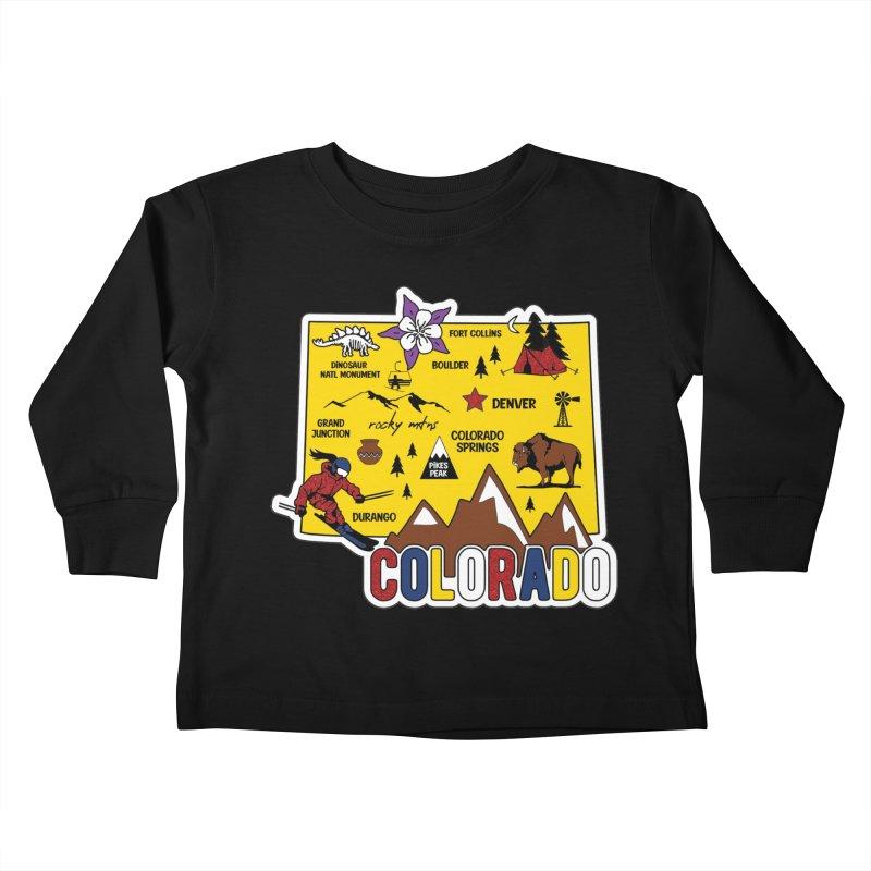 Race Through Colorado Kids Toddler Longsleeve T-Shirt by Moon Joggers's Artist Shop