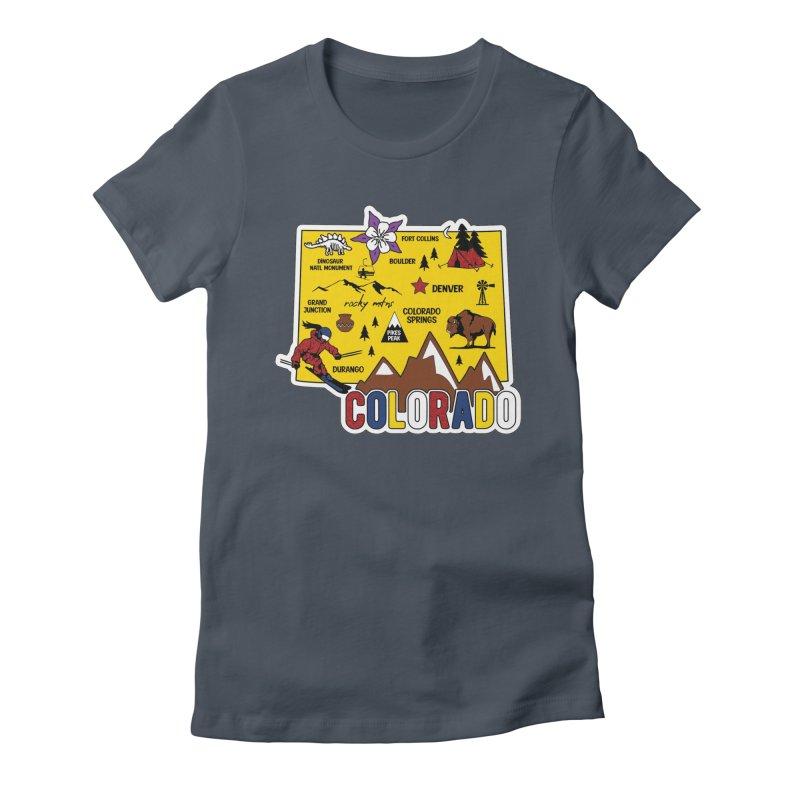 Race Through Colorado Women's T-Shirt by Moon Joggers's Artist Shop