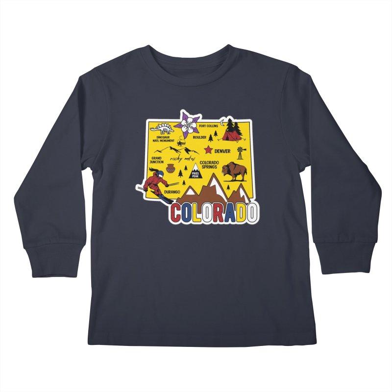 Race Through Colorado Kids Longsleeve T-Shirt by Moon Joggers's Artist Shop