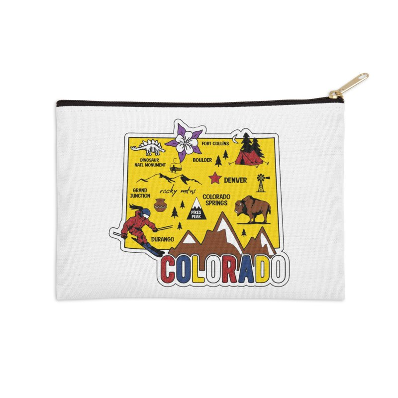 Race Through Colorado Accessories Zip Pouch by Moon Joggers's Artist Shop