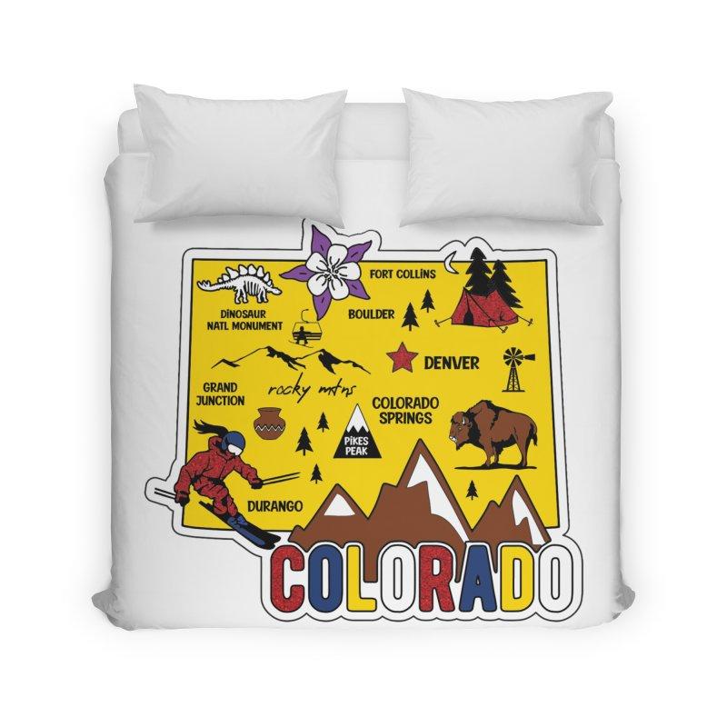 Race Through Colorado Home Duvet by Moon Joggers's Artist Shop