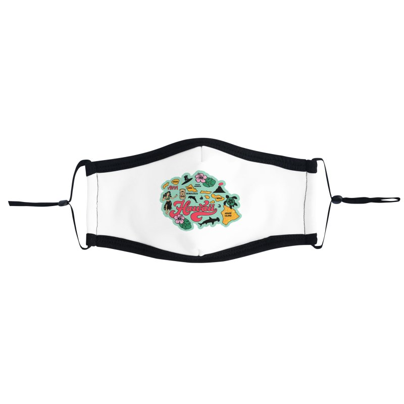 Race Through Hawaii Accessories Face Mask by Moon Joggers's Artist Shop