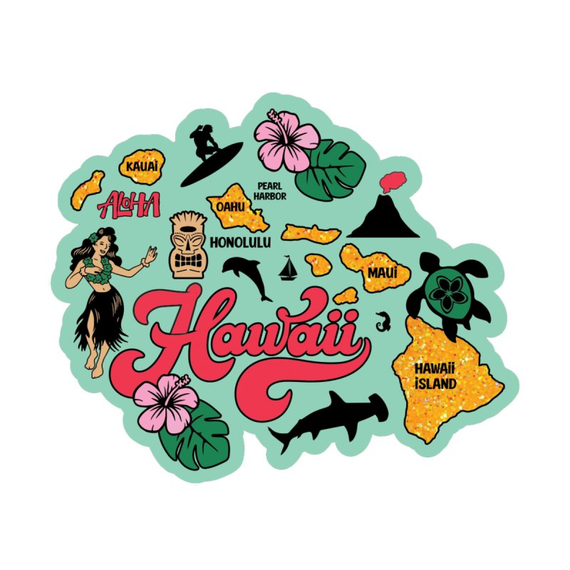 Race Through Hawaii Accessories Greeting Card by Moon Joggers's Artist Shop