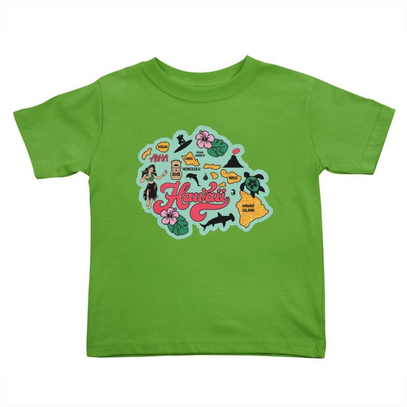 Race Through Hawaii Kids Toddler T-Shirt by Moon Joggers's Artist Shop