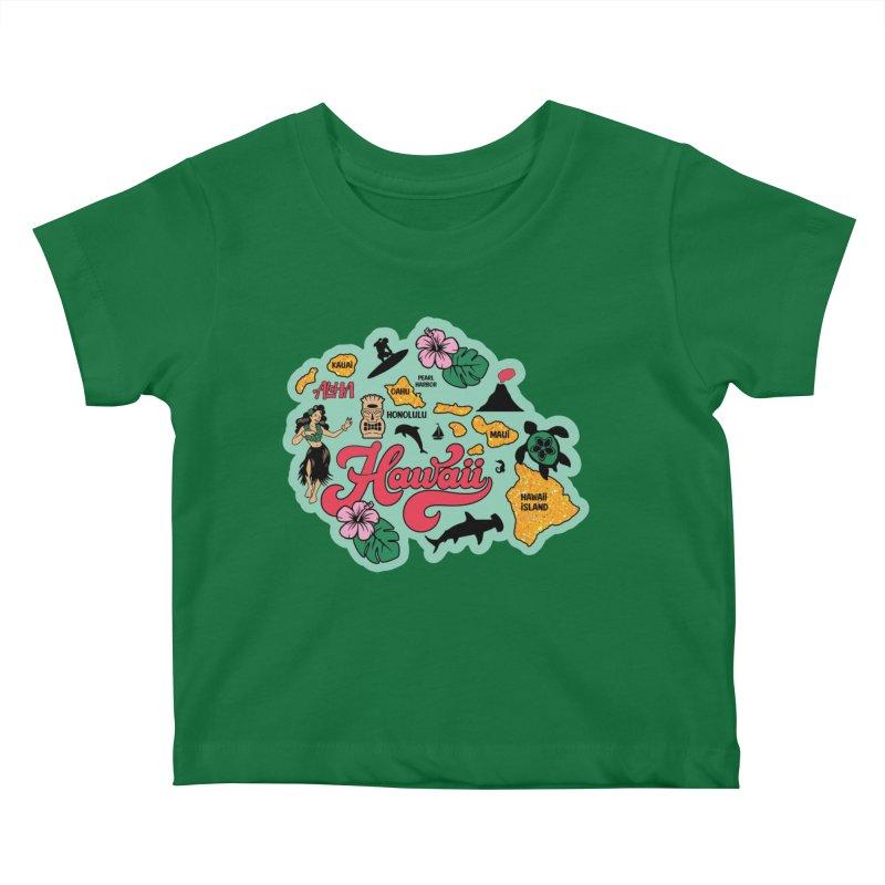 Race Through Hawaii Kids Baby T-Shirt by Moon Joggers's Artist Shop