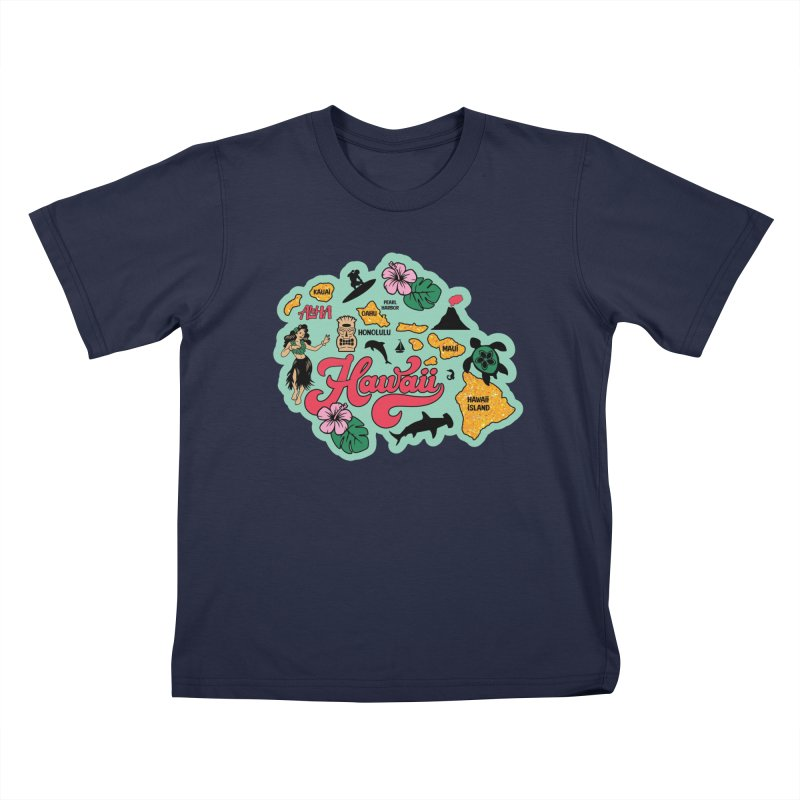 Race Through Hawaii Kids T-Shirt by Moon Joggers's Artist Shop