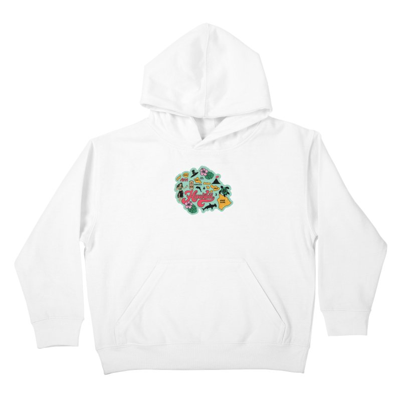 Race Through Hawaii Kids Pullover Hoody by Moon Joggers's Artist Shop