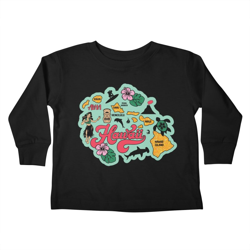 Race Through Hawaii Kids Toddler Longsleeve T-Shirt by Moon Joggers's Artist Shop