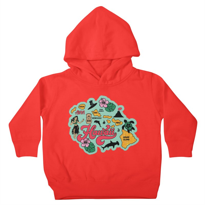 Race Through Hawaii Kids Toddler Pullover Hoody by Moon Joggers's Artist Shop