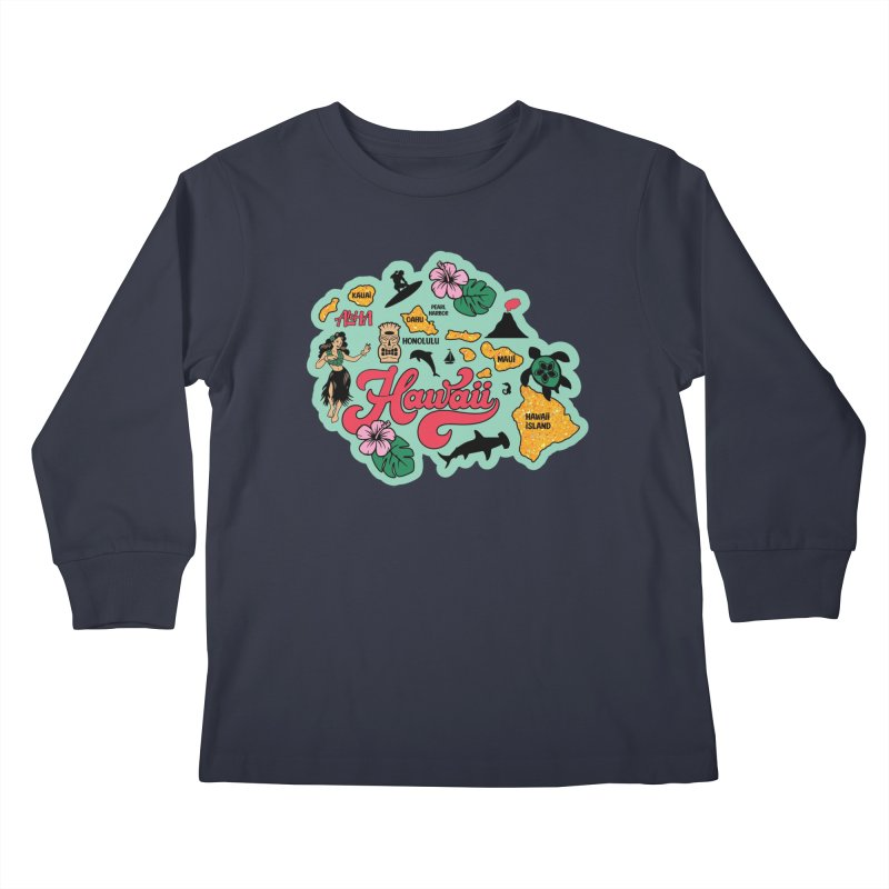 Race Through Hawaii Kids Longsleeve T-Shirt by Moon Joggers's Artist Shop