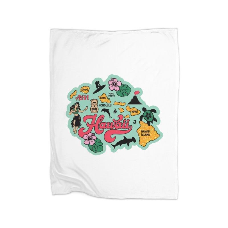 Race Through Hawaii Home Blanket by Moon Joggers's Artist Shop