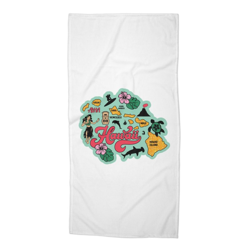 Race Through Hawaii Accessories Beach Towel by Moon Joggers's Artist Shop