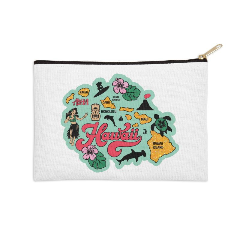 Race Through Hawaii Accessories Zip Pouch by Moon Joggers's Artist Shop