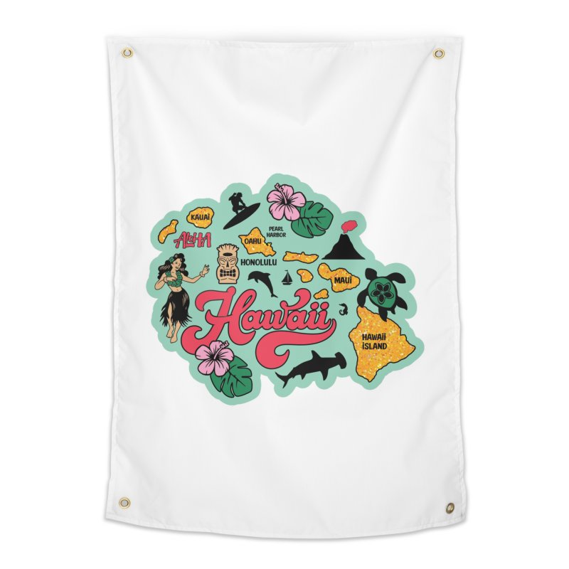Race Through Hawaii Home Tapestry by Moon Joggers's Artist Shop