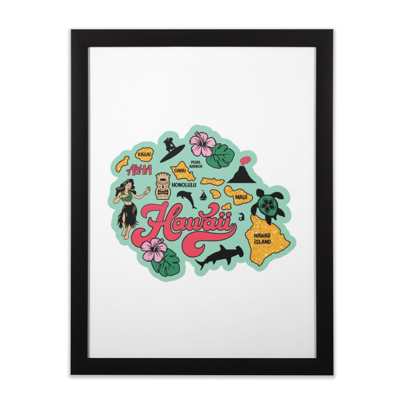 Race Through Hawaii Home Framed Fine Art Print by Moon Joggers's Artist Shop