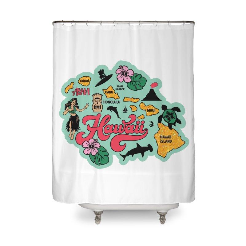 Race Through Hawaii Home Shower Curtain by Moon Joggers's Artist Shop
