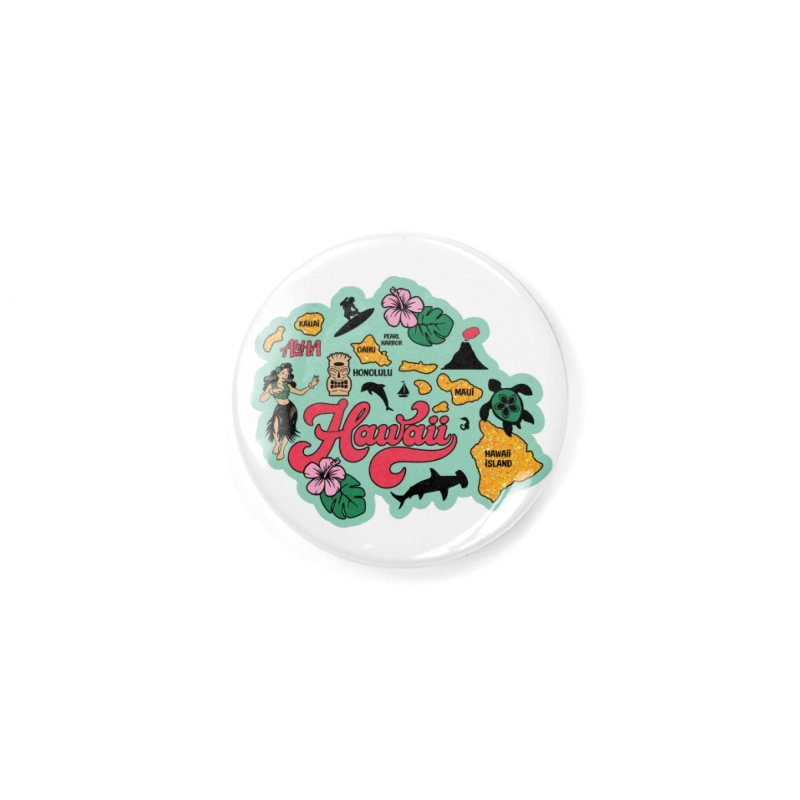 Race Through Hawaii Accessories Button by Moon Joggers's Artist Shop