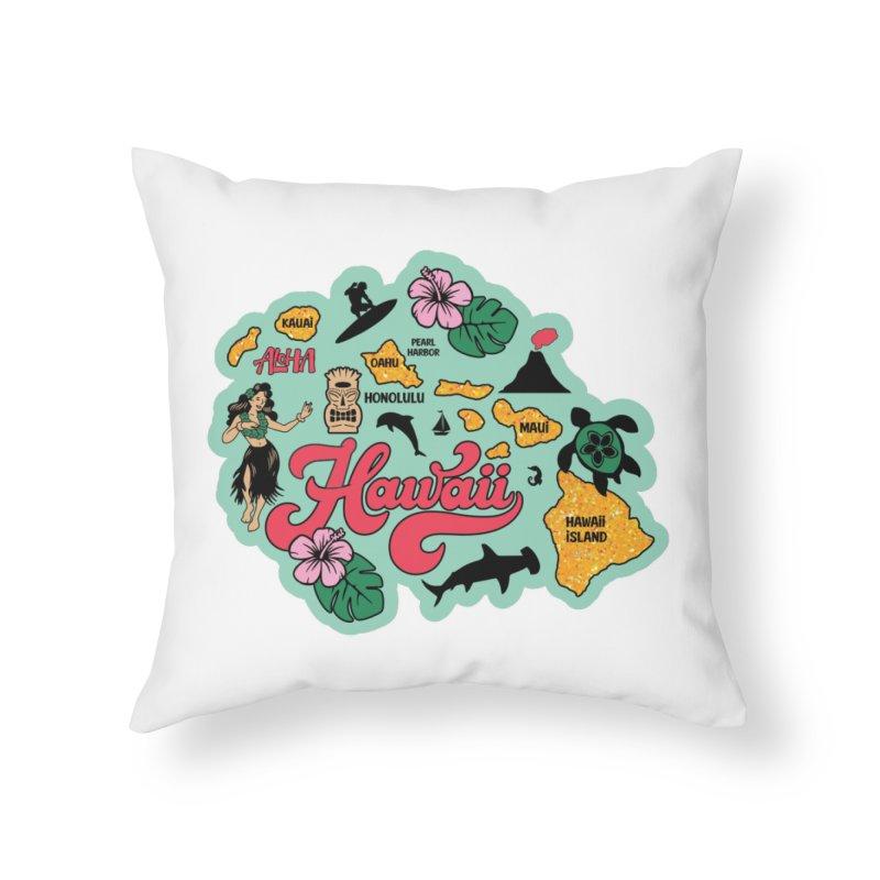Race Through Hawaii Home Throw Pillow by Moon Joggers's Artist Shop