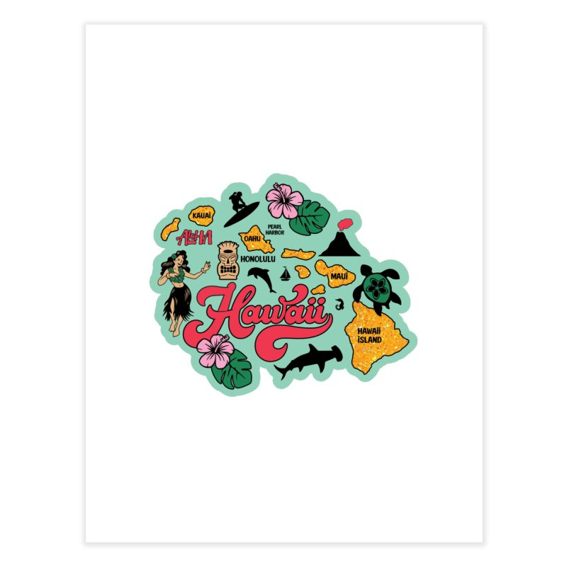 Race Through Hawaii Home Fine Art Print by Moon Joggers's Artist Shop