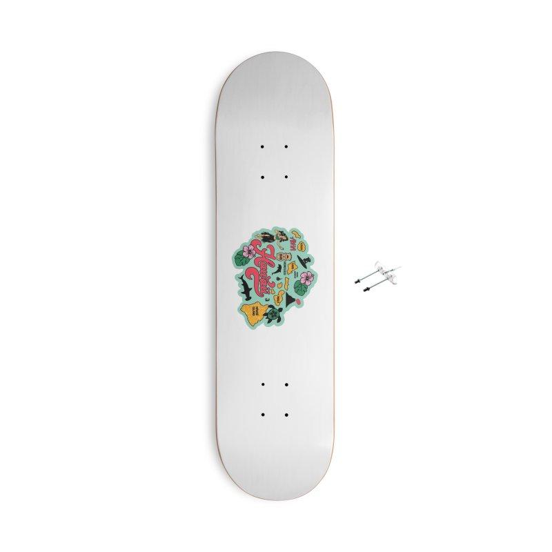 Race Through Hawaii Accessories Skateboard by Moon Joggers's Artist Shop
