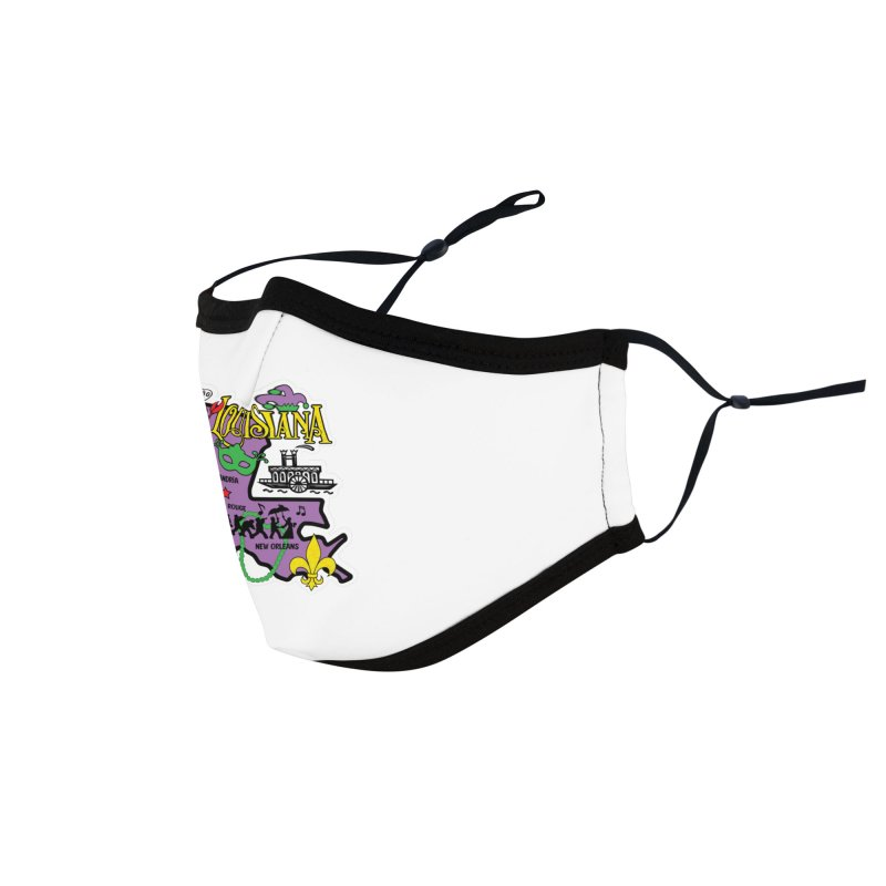 Race Through Luoisiana Accessories Face Mask by Moon Joggers's Artist Shop