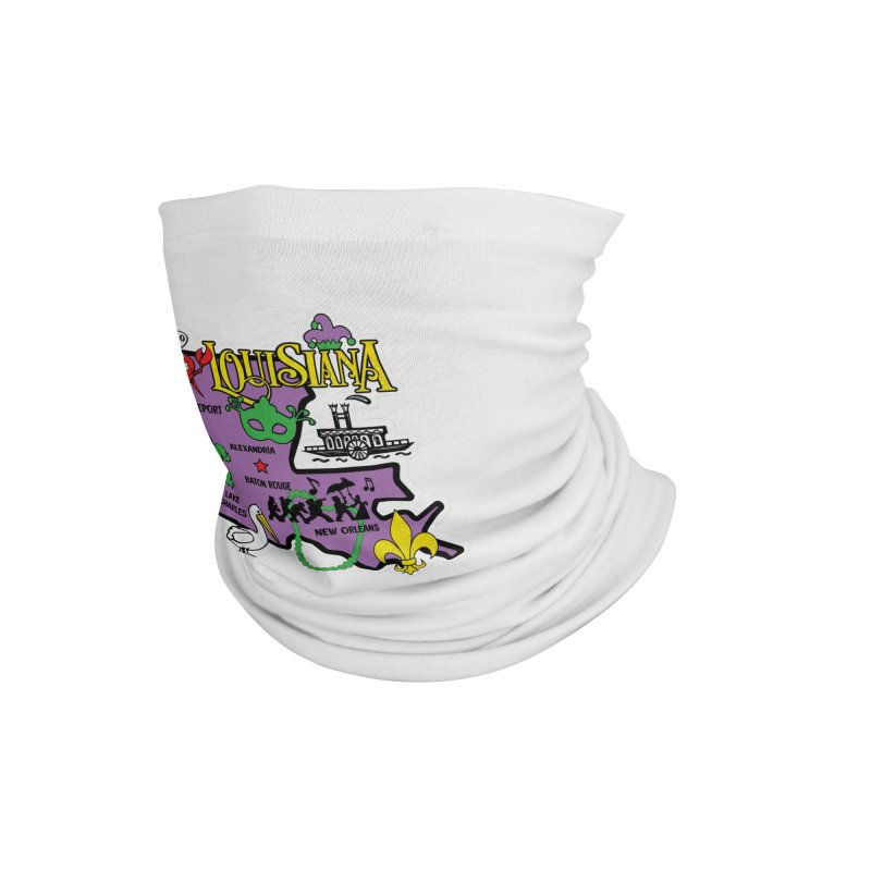 Race Through Luoisiana Accessories Neck Gaiter by Moon Joggers's Artist Shop