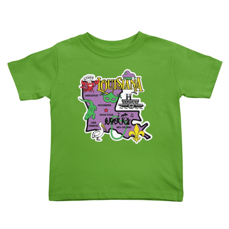 Race Through Luoisiana Kids Toddler T-Shirt by Moon Joggers's Artist Shop