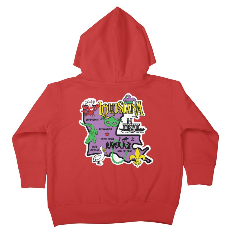 Race Through Luoisiana Kids Toddler Zip-Up Hoody by Moon Joggers's Artist Shop