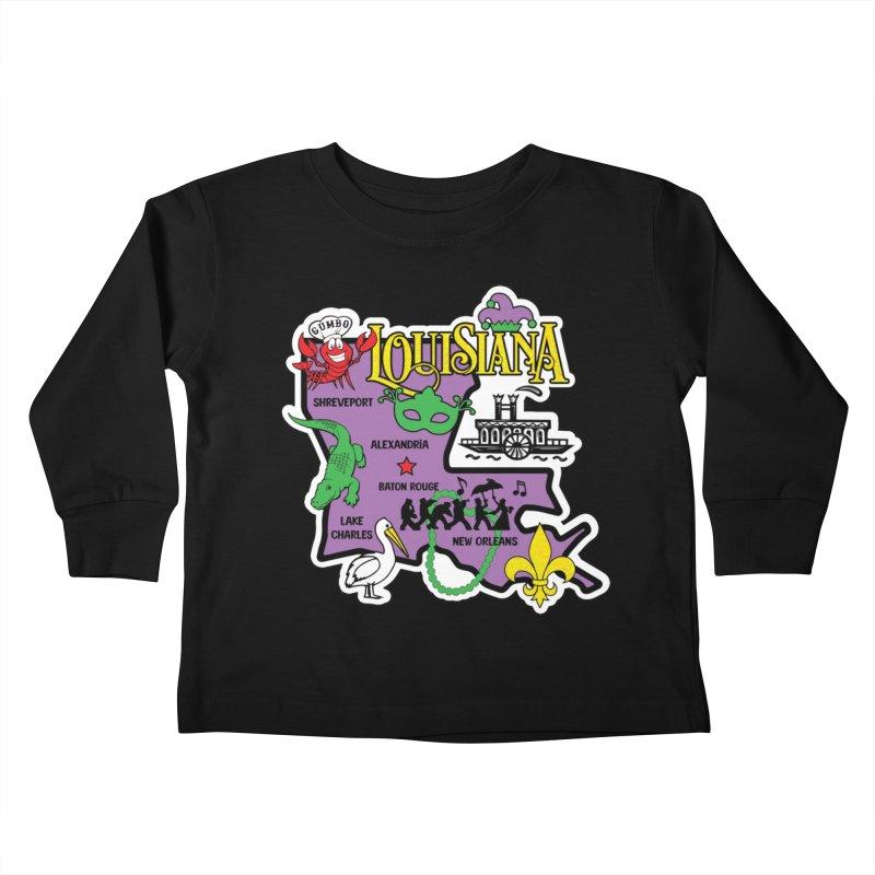 Race Through Luoisiana Kids Toddler Longsleeve T-Shirt by Moon Joggers's Artist Shop