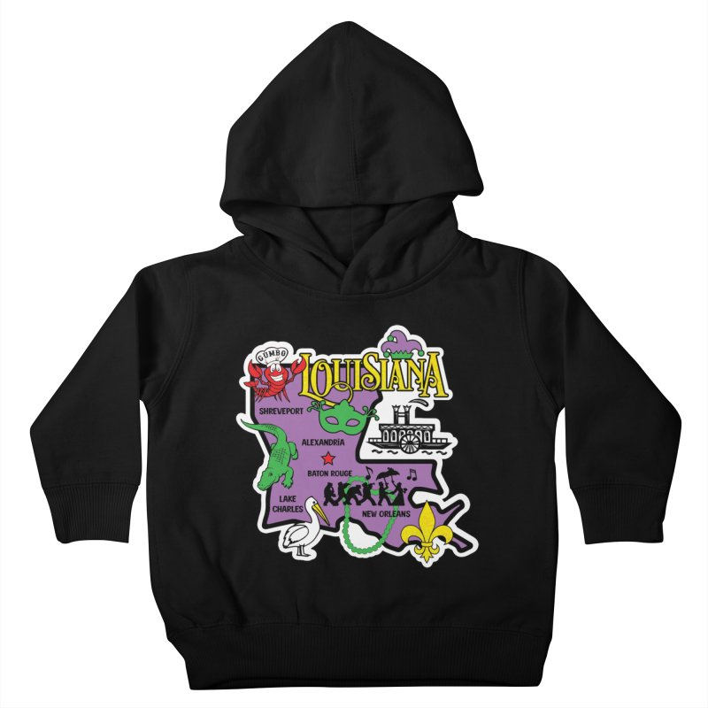 Race Through Luoisiana Kids Toddler Pullover Hoody by Moon Joggers's Artist Shop