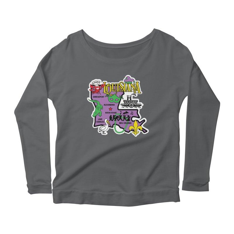 Race Through Luoisiana Women's Longsleeve T-Shirt by Moon Joggers's Artist Shop