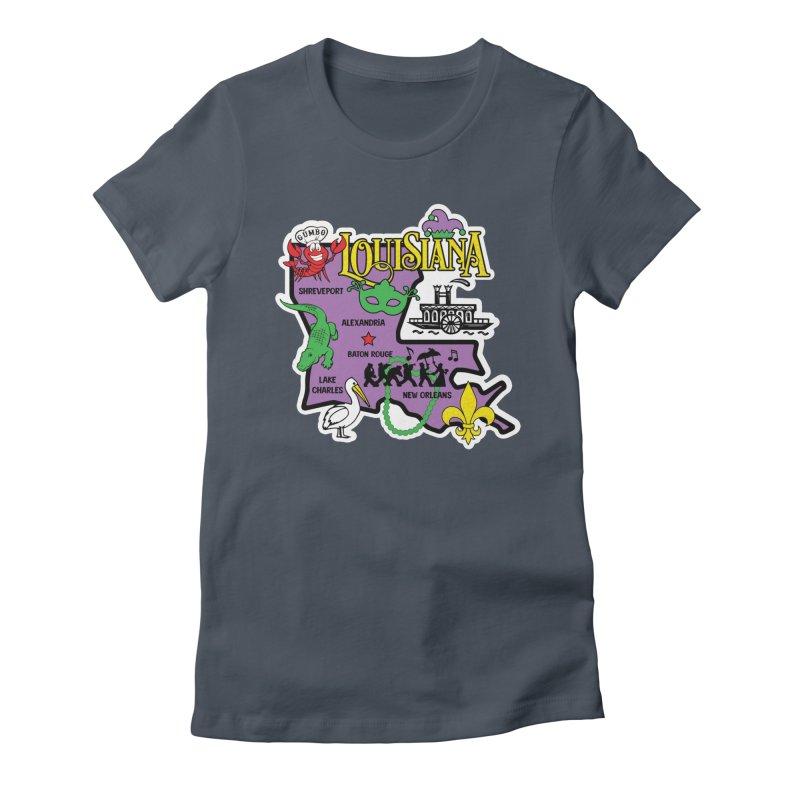 Race Through Luoisiana Women's T-Shirt by Moon Joggers's Artist Shop