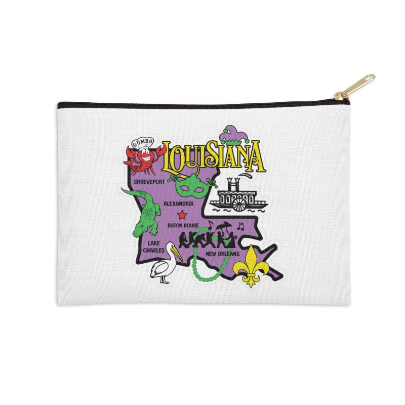 Race Through Luoisiana Accessories Zip Pouch by Moon Joggers's Artist Shop
