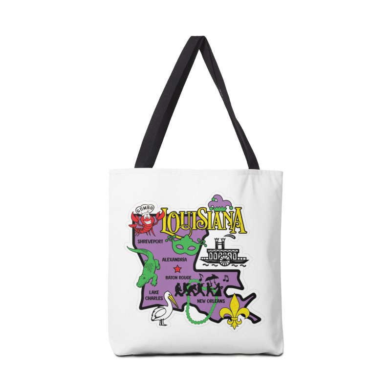 Race Through Luoisiana Accessories Bag by Moon Joggers's Artist Shop