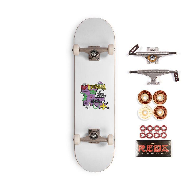 Race Through Luoisiana Accessories Skateboard by Moon Joggers's Artist Shop