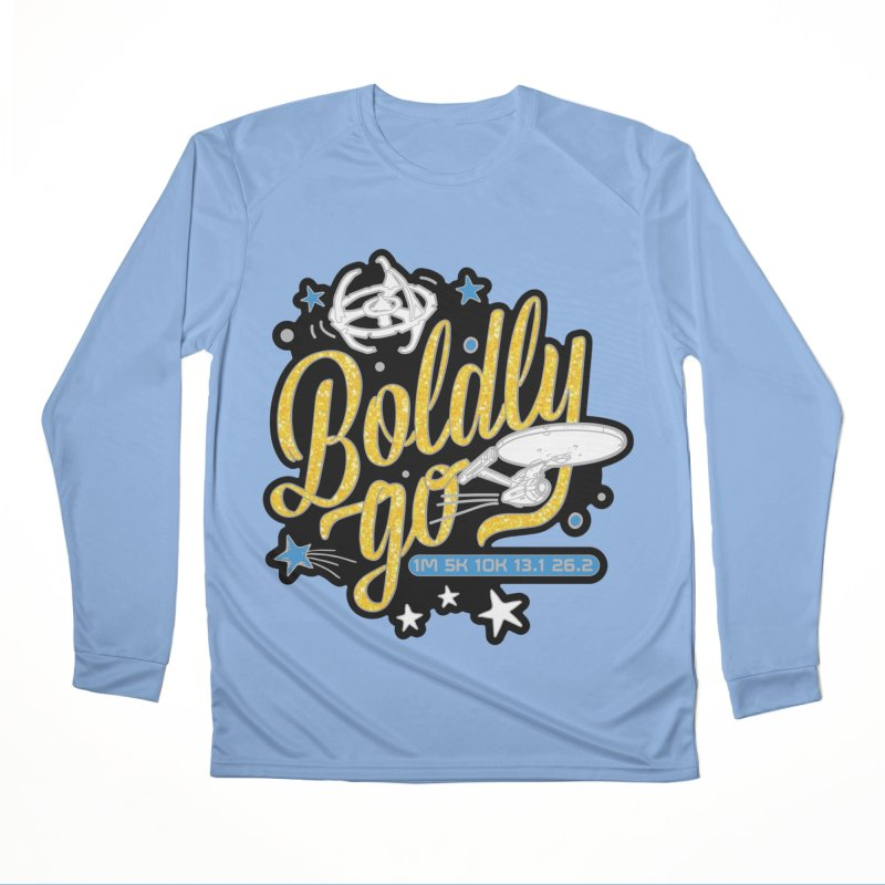 Boldly Go Men's Longsleeve T-Shirt by Moon Joggers's Artist Shop