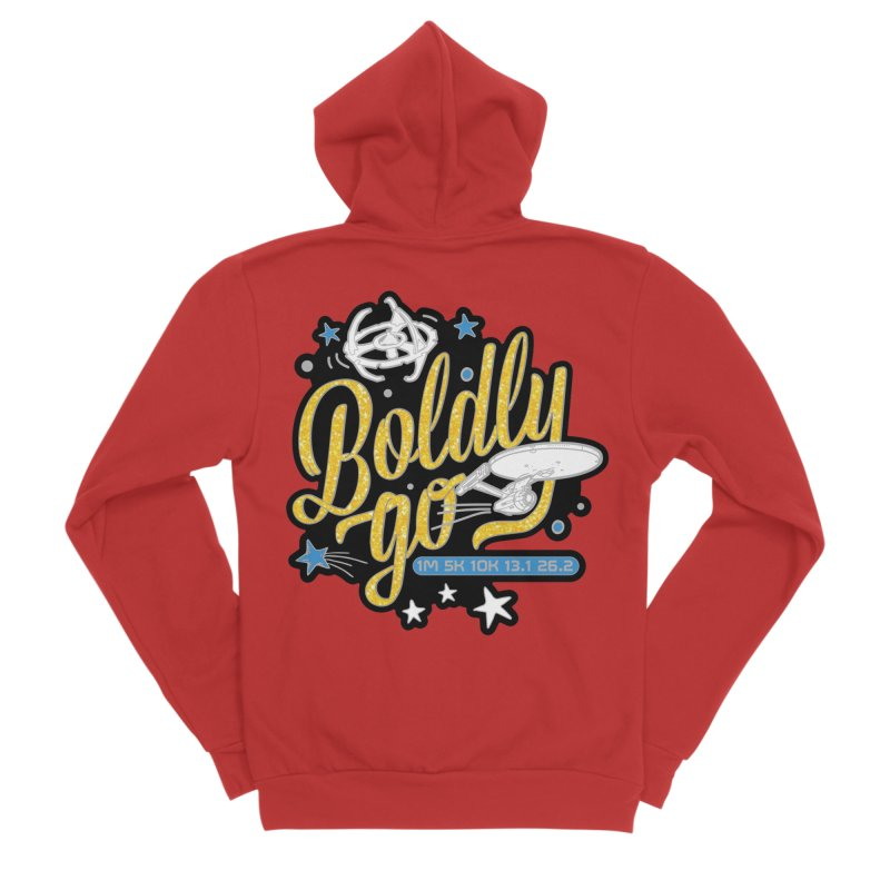 Boldly Go Women's Zip-Up Hoody by Moon Joggers's Artist Shop