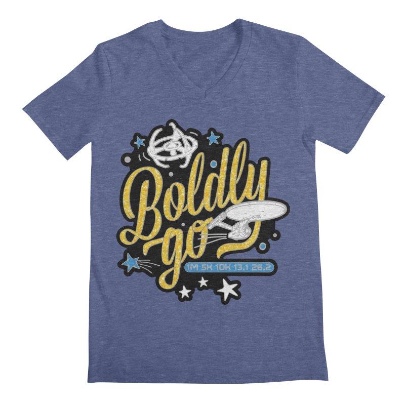 Boldly Go Men's V-Neck by Moon Joggers's Artist Shop