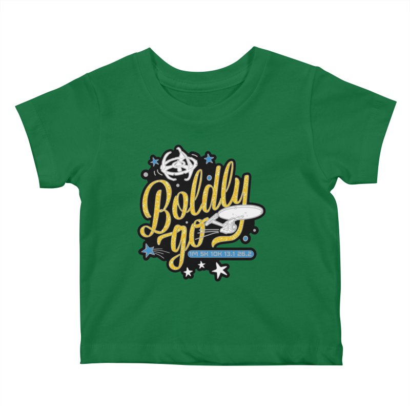 Boldly Go Kids Baby T-Shirt by Moon Joggers's Artist Shop
