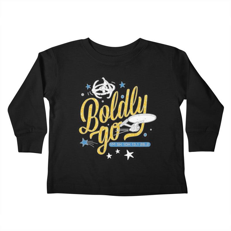 Boldly Go Kids Toddler Longsleeve T-Shirt by Moon Joggers's Artist Shop