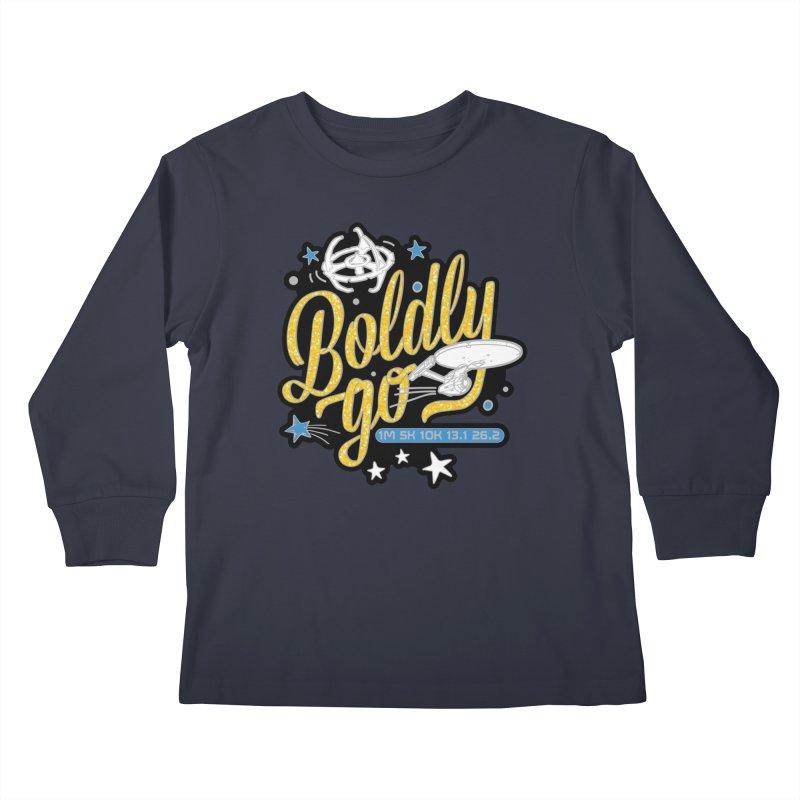 Boldly Go Kids Longsleeve T-Shirt by Moon Joggers's Artist Shop