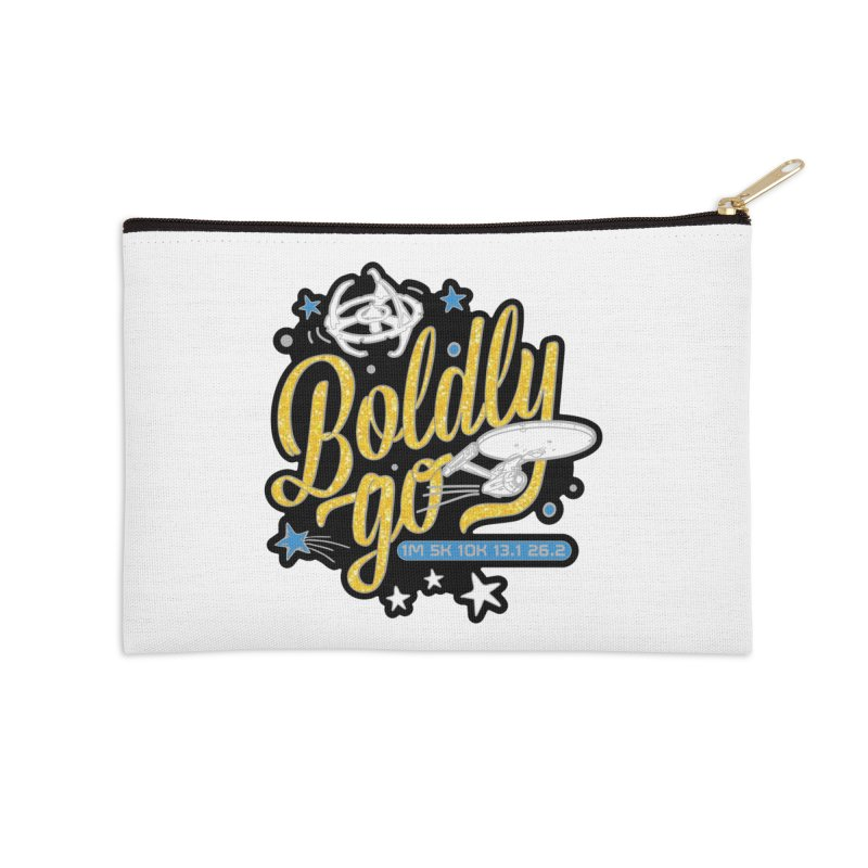 Boldly Go Accessories Zip Pouch by Moon Joggers's Artist Shop