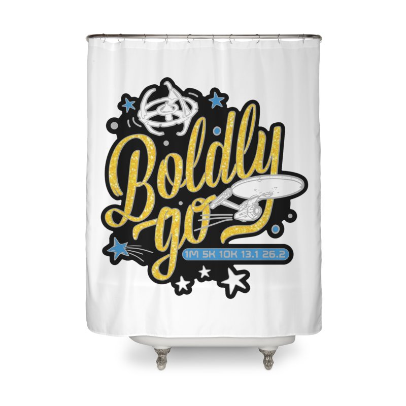 Boldly Go Home Shower Curtain by Moon Joggers's Artist Shop
