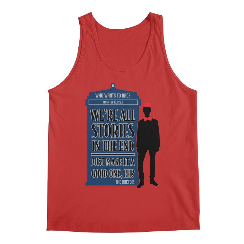 WHO Wants to Race Men's Tank by Moon Joggers's Artist Shop